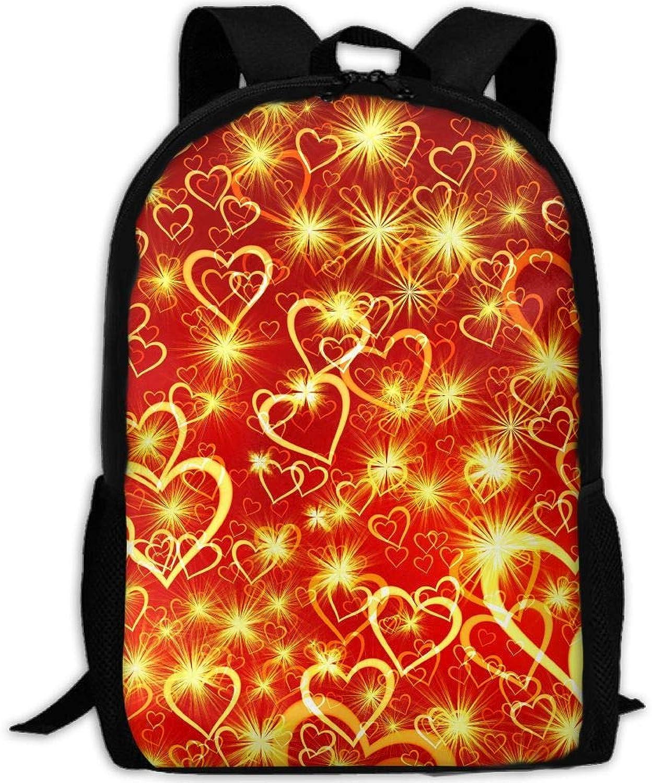 Backpack Briefcase Laptop Travel Hiking School Shoulder Bags Heart Daypack