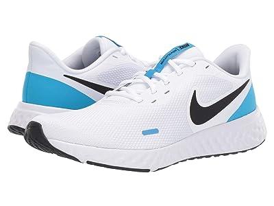 Nike Revolution 5 (White/Black/Blue Hero) Men