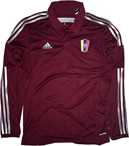 Amazon.com: Adidas Venezuela La Vinotinto FVF Home Jersey Long ...