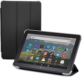 NuPro Funda con soporte y tres posiciones de pliegue para tablet Fire HD 8 (10.ª generación, modelo de 2020), color negro