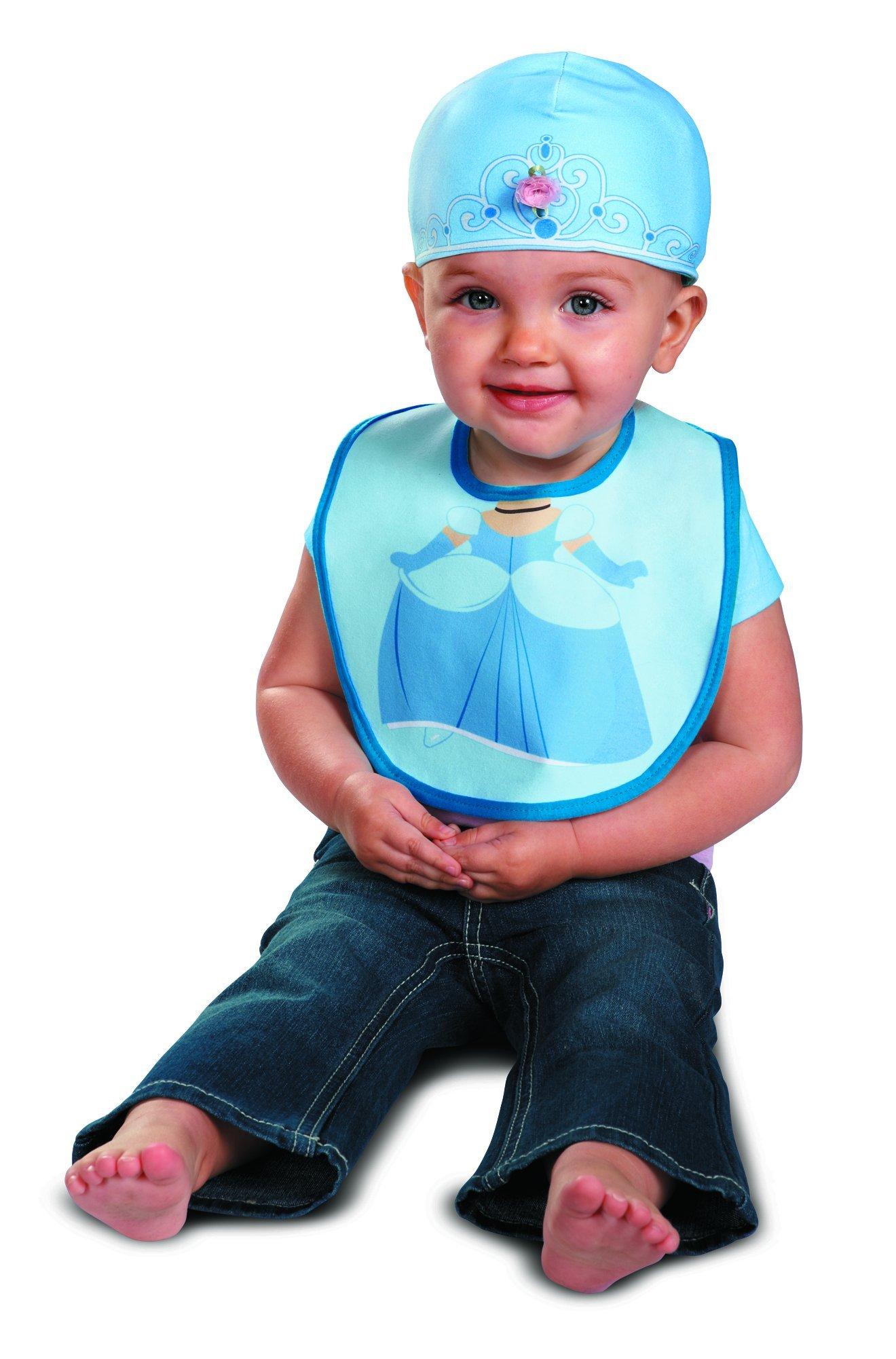 Disguise Baby Girl's Disney Cinderella Bib and Hat Costume