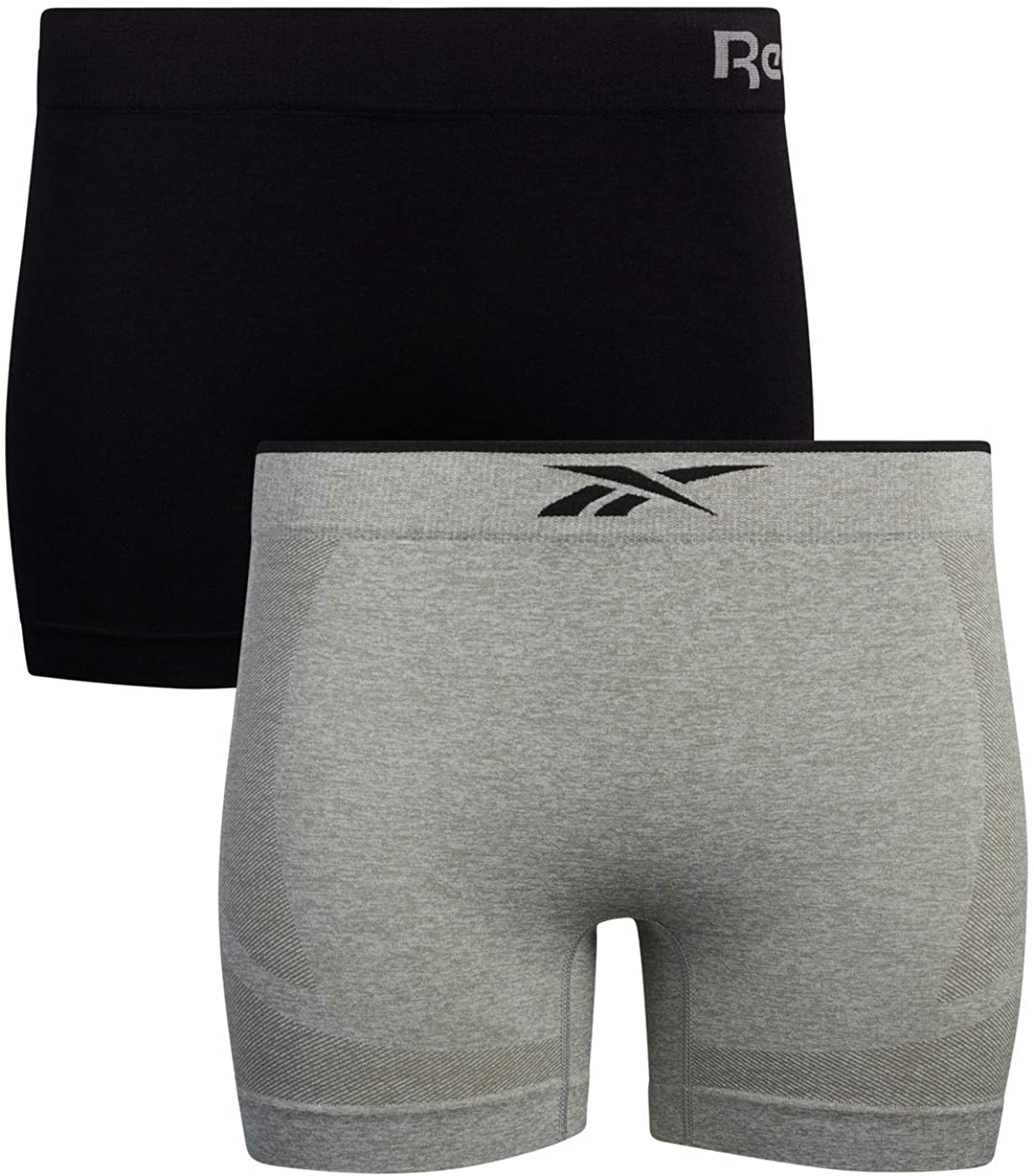 Reebok Women's Underwear – Mid Length Seamless Boyshorts (2 Pack) at  Women's Clothing store