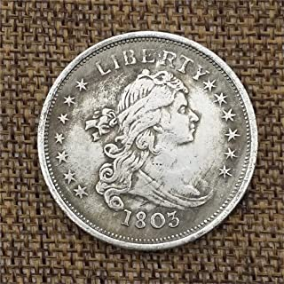 OppoLing 1803 U.S. Liberty Morgan Dollars - Great American Coin - US Old Coins- USA Uncirculated Commemorative Coin-It's Handmade Crafts Best Product