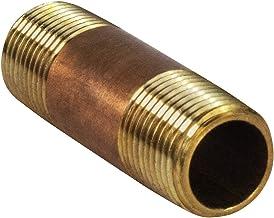 Everflow Supplies NPBR1220 5 cm długi mosiężny łącznik do rur sutkowych o średnicy nominalnej 1/2 cala i końcówkach NPT