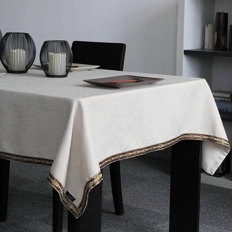 Moderne einfach Tischtuch,Tischtuch Einfarbige tischdecke Längliche tischdecke Tischdecke für esszimmer-A 140x160cm(55x63inch) B079FYJH6S Mode-Muster  | Billiger als der Preis