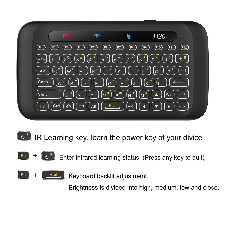 Mini Teclado inalámbrico para PC, Smart TV, Android TV Box: Amazon.es: Electrónica