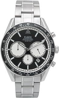 [エルジン]ELGIN 腕時計 クロノグラフ 日本製ムーブメント オールステンレス ブラック FK1401S-B メンズ