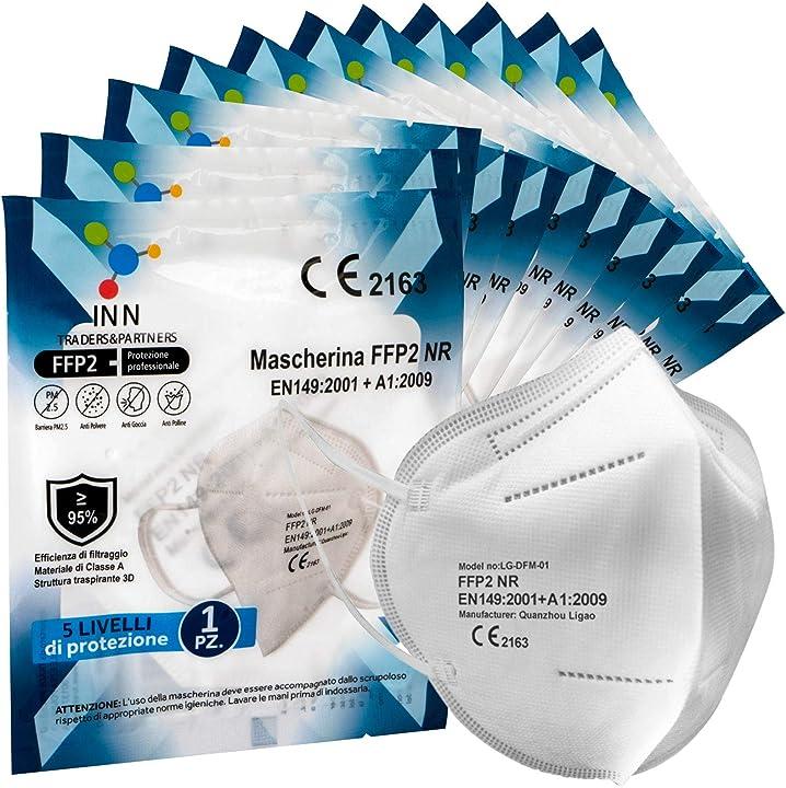 20 mascherine ffp2 certificate ce mascherina 5 strati sigillate senza valvola - 20 pezzi eurocali B08NC68SBB