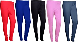 IndiWeaves Womens Premium Cotton Ankle Length Leggings_Multicolor_Size-Free_7102631394047-IW-P5-Free