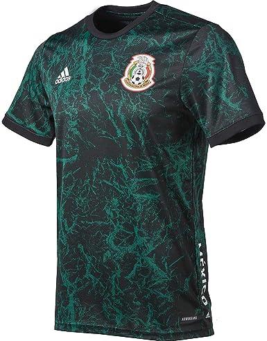 Amazon.com: adidas 2020-21 Mexico Pre-Match Jersey - Green-Black S ...
