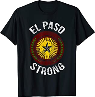 El Paso Strong #ElPaso Map Distressed T-Shirt TX lover Gifts