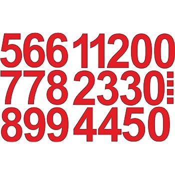 Selbstklebende Ziffern und Nummern 0-9 Ideal f/ür den Au/ßenbereich da Wasser und Wetterfest in Schwarz Zahlen Aufkleber 5cm Hoch 96 KLEBEZAHLEN