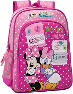 2082351 Minnie y Daisy Mochila Adaptable a Carro, Color Rosa