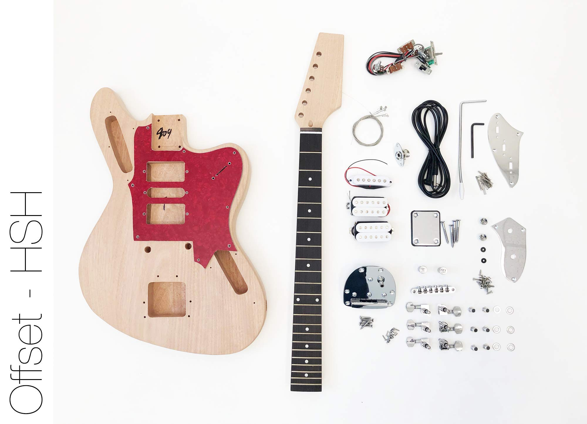 Cheap DIY Electric Guitar Kit Offset HSH Build Your Own Guitar Kit Black Friday & Cyber Monday 2019