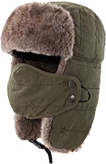 Trapper Hat with Lovely Cat Embroidery Windproof Hunting Hat with Mask Warm Ear Flap Hats for Men Women Ideal for Outdoor Sports Skiing