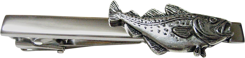 Cod Fish Square Tie Clip