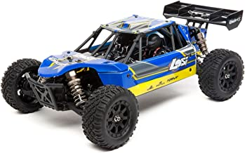 Losi Mini 8ight DB Brushless 4WD RC Desert Buggy RTR with DX2E Tx | SRX200 2-Ch Rx | 3800kV Motor | 25A BL ESC | 7.2V 1200mAh NiMH Battery EC2 | Charger, 1/14 Scale (Blue)