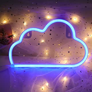 ifreelife Cloud Neon Signs Neon Lights LED Night Light Wall Decor Lights USB Charging/Battery Operated Decorative Lights f...