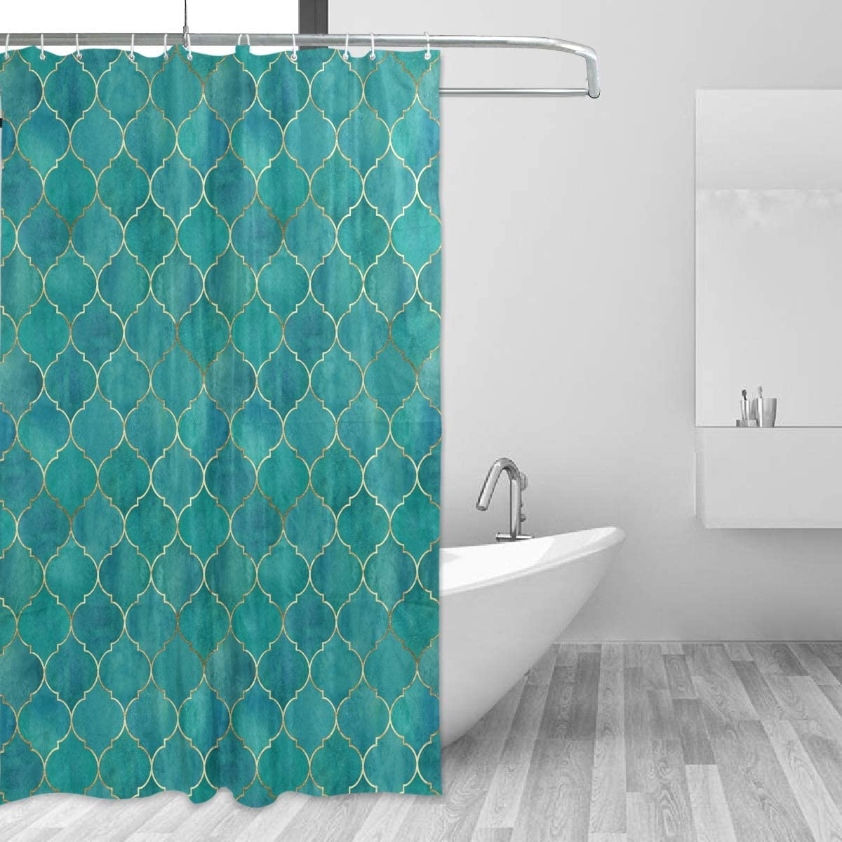 MNSRUU Year-end annual account Fabric Shower Curtain Vintage G Dedication Decorative Moroccan with