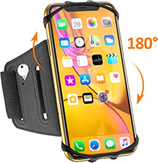 Matone Phone Armband, 180° Rotatable Phone Holder for Running, Compatible with iPhone 11/11 Pro Max/XR/X/8 Plus/7, Samsung Galaxy S10 Plus/S10/S10e/S9, Universal Highly Adjustable Running Arm Band