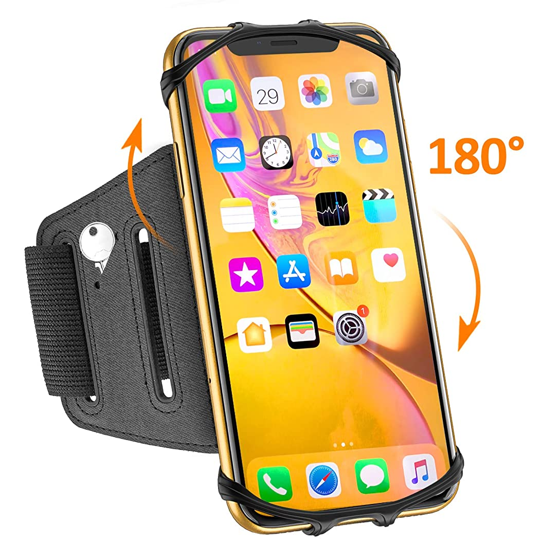 Matone Phone Armband, 180° Rotatable Phone Holder for Running, Compatible with iPhone XR/XS Max/X/8 Plus/7, Samsung Galaxy S10 Plus/S10/S10e/S9, Universal Highly Adjustable Running Arm Band hd8042389