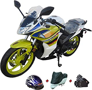 Lifan 200cc Adult Motorcycle Gas Motorcycle Moped Scooter KPR 200(2017) Fully Assembled with X-Pro Helmet, Cover and Gloves