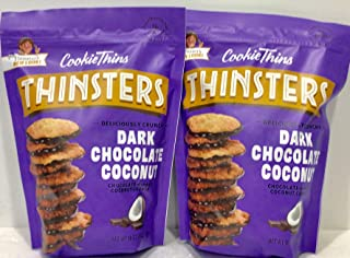 Mrs. Thinster's Cookie Thins ( 2 PACK ) Dark Chocolate Coconut, 18 oz Each Bag