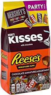 HERSHEY'S Chocolate Candy Mix Assortment (Reese's, Kisses, Miniatures ) Party Bag