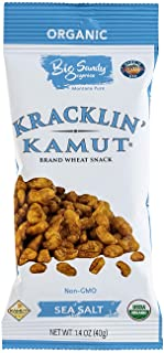 Kracklin' Kamut Brand Ancient Grains| Hand Roasted Organic Crunchy Snack | Grab And Go Snack Pouches(1.4 oz x 12 packs) – ...