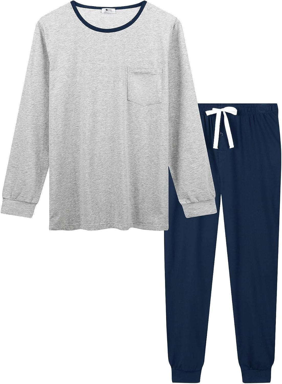 Men's Cotton Pajama/Lounge Set with Jogger Pants