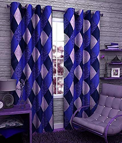 Srk Trendz polyresin Curtain 5 feet Blue Aqua Blue Pack of 1