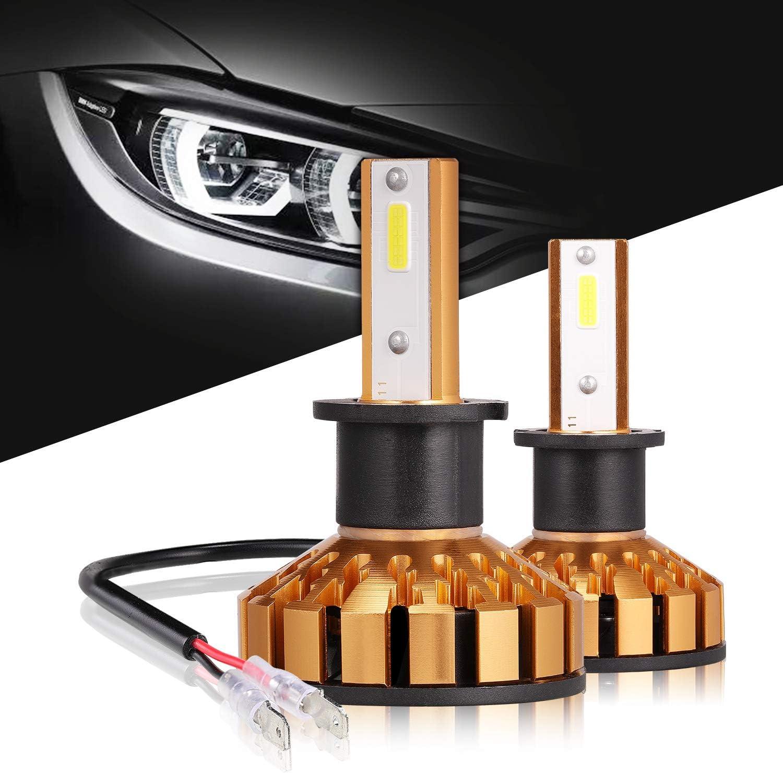 H3 LED Headlight Bulbs Popular brand Error Free Con Led Anti-flicker Translated