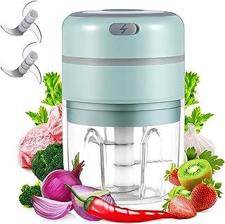 digi marker Electric Garlic Chopper Mini Food Slicer Portable Garlic Mincer Press, Wireless Food Processor For Garlic Pepp...
