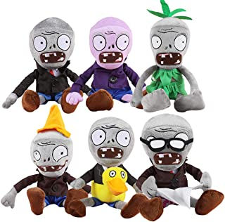 TavasHome Plants vs Zombies Series Stuffed Plush PVZ Toy Set of 6 Pieces Soft Game Doll Funny Gift
