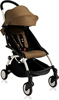 Babyzen Yoyo+ Stroller - White Frame with Toffee Seat and Canopy