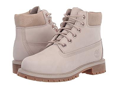 Timberland Kids 6 Premium Waterproof Boot (Little Kid) (Light Taupe Nubuck) Girls Shoes