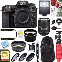 Nikon D7500 20.9MP DX-Format Digital SLR Camera with AF-S 18-300mm f/3.5-6.3G ED VR Lens + 64GB Memory & Deluxe Accessory Bundle