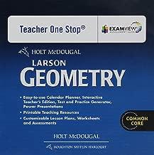 Holt McDougal Larson Geometry: Common Core Teacher's One Stop Planner DVD Geometry