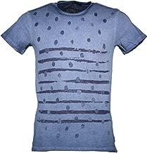 YES-ZEE T743/TB00 Camiseta con Las Mangas Cortas Hombre