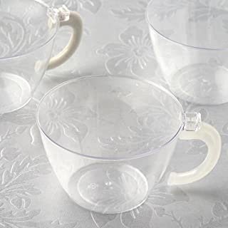 plastic coffee cups and saucers