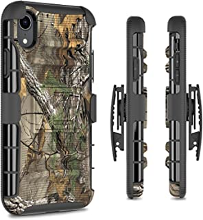 CoverON Kickstand Belt Clip Explorer Series for Apple iPhone XR Holster Case, Camo