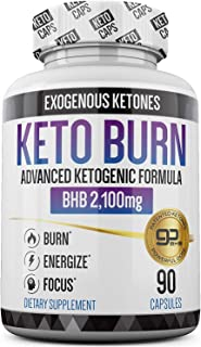 Keto Pills - 3X Dose (2100mg | 90 Capsules) Advanced Keto Burn Diet Pills - Best Exogenous Ketones BHB Supplement - Max Strength Formula