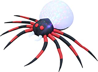 8 Foot Long Lighted Halloween Inflatable Projection Kaleidoscope Spider LED Lights Decor Outdoor Indoor Holiday Decorations, Blow up Lighted Yard Decor, Giant Lawn Inflatables Home Family Outside