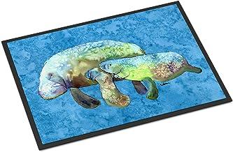 """Caroline's Treasures 8660-JMAT Manatee Indoor or Outdoor Doormat, 24"""" x 36"""", Multicolor"""