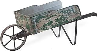Boston International HHC18435 Decorative Garden Wheelbarrow, Small, Green
