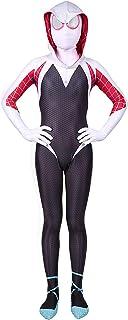 Bisika Cos Unisex Lycra Spandex Gwen Stacy Zentai Halloween Cosplay Costumes Adult/Kids 3D Style