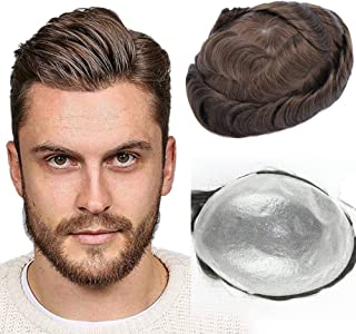 Sponsored Ad - UniWigs Eros Ultra Thin Skin V-looped Hair System for Men,Toupee for Hair Loss (#2(Dark Brown))
