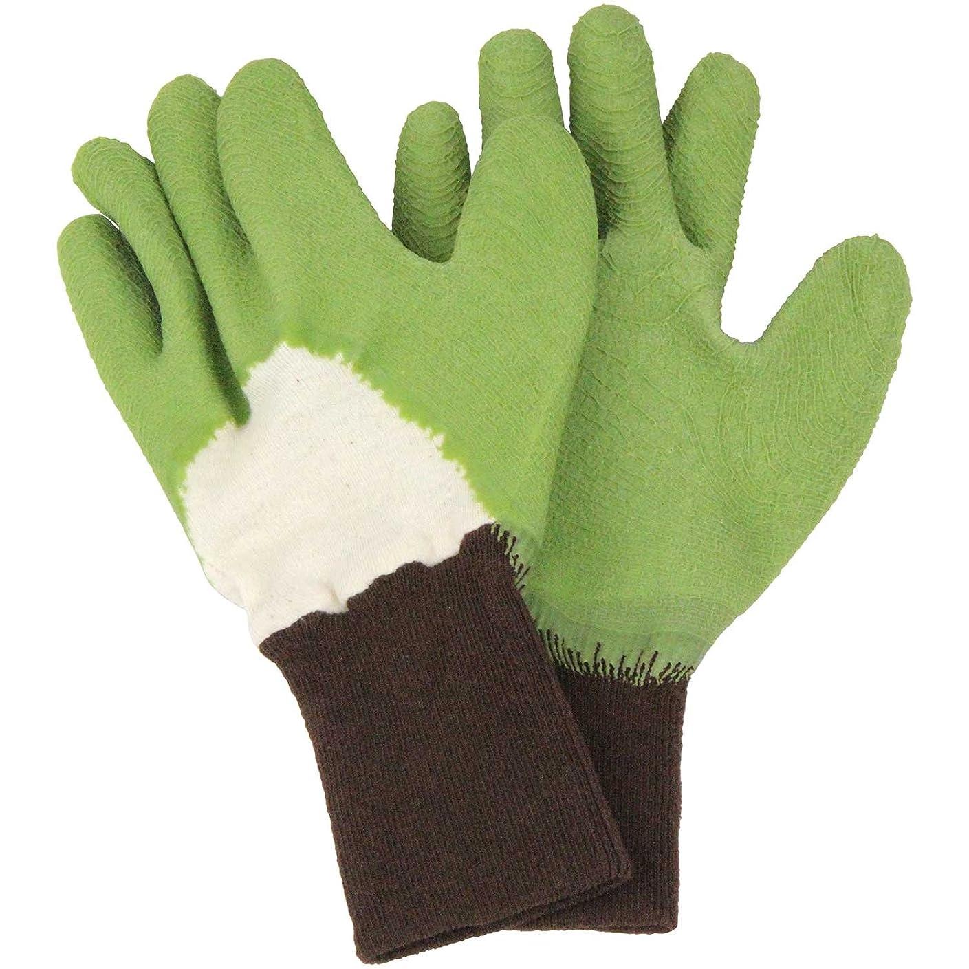 解明する気性役に立たないセフティー3 トゲがささりにくい手袋 グリーン M