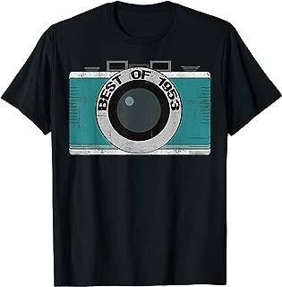 Vintage Best of 1953 66th Birthday Camera T-Shirt