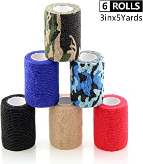 AUPCON Vet Wrap Self Adherent Wrap Cohesive Bandage Animal Bandage Self Adhesive Bandages for Horse, Pets & Ankle Sprains & Swelling 3 Inches